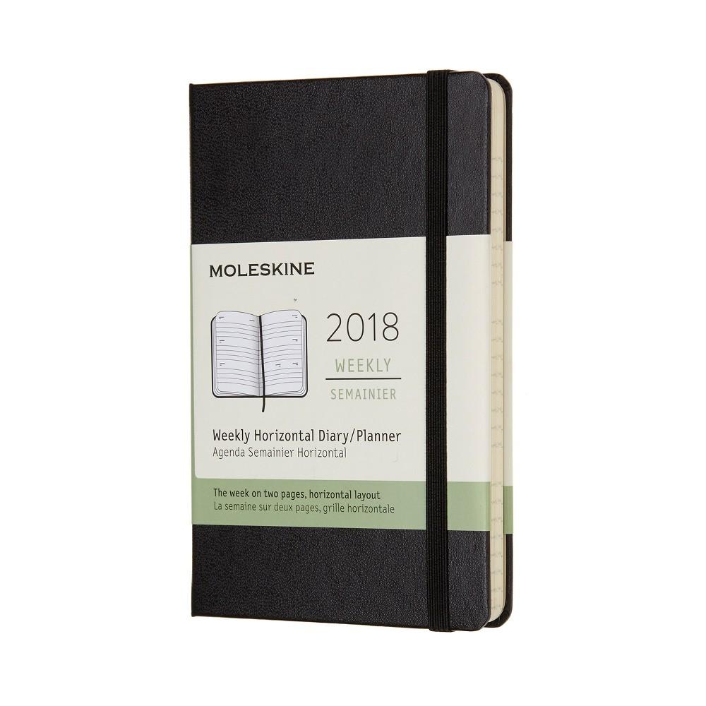 2018 Moleskine Planner Weekly Full Spread Large - Black Hardcover