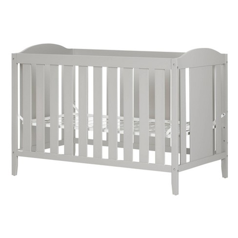 Angel Crib with Toddler rail - Soft Gray - South Shore - image 1 of 4