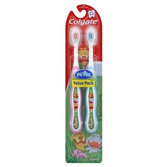 Colgate My First Baby and Toddler Toothbrush BPA Free and Extra Soft - 2ct