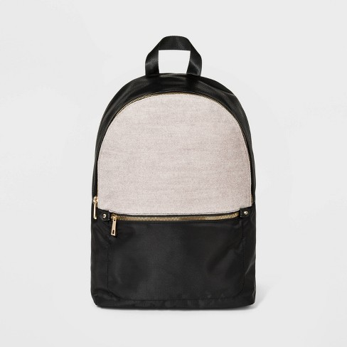 Woolen Dome Backpack - A New Day™ Black - image 1 of 4