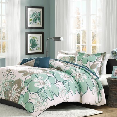 Blue/Gray Kelly Comforter Set Full/Queen 4pc