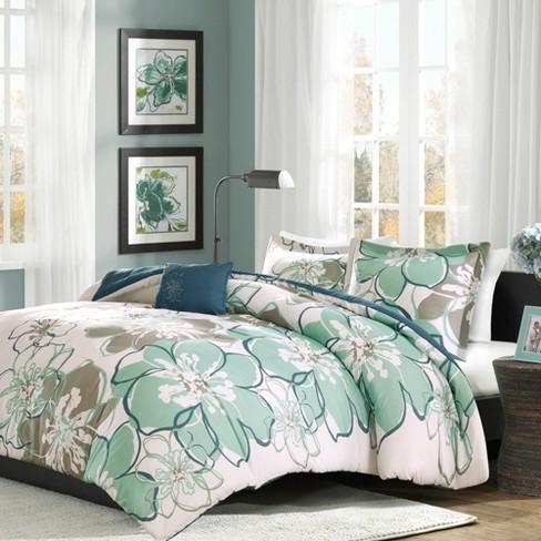 Blue Gray Kelly Comforter Set Full Queen 4pc Target
