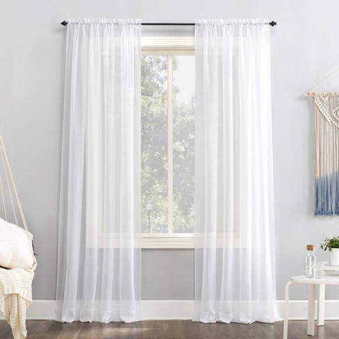 Emily Sheer Voile Rod Pocket Curtain Panel - No. 918 - image 1 of 4