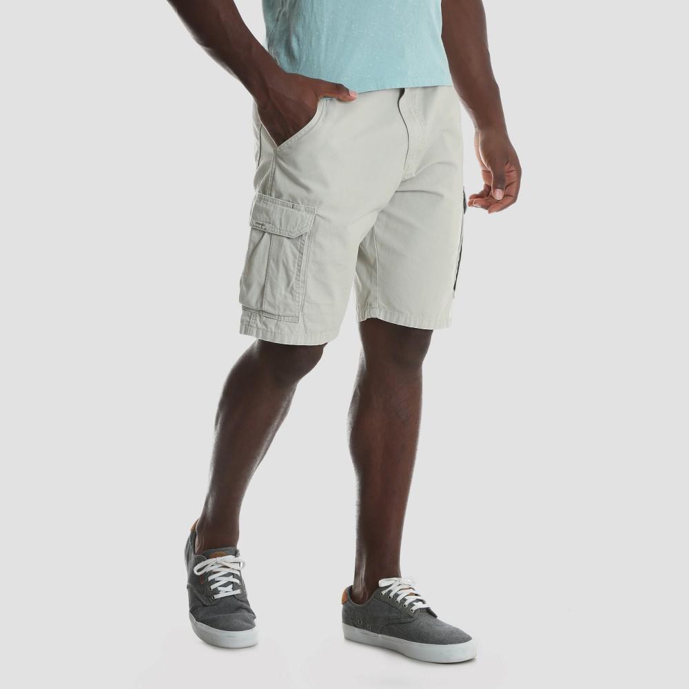 Wrangler Men's 10 Ripstop Cargo Shorts - Dark Putty 36
