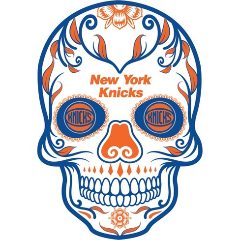 NBA New York Knicks Large Outdoor Skull Decal - image 1 of 1