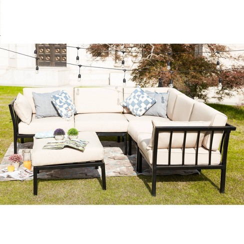 6pc Sectional Sofa Patio Conversation, Outdoor Furniture Sectional Sofa