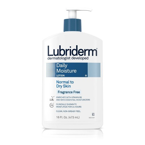 Unscented Lubriderm Daily Moisture Body Lotion - 16 fl oz - image 1 of 4