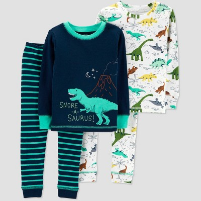 Baby Boys' 4pc Dino Pajama Set - Just One You® made by carter's Teal 9M