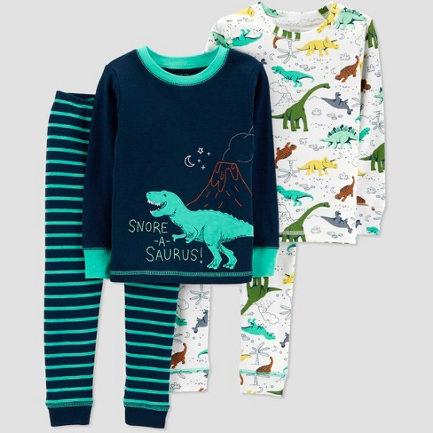 dd0c7720903a Baby Boys  4pc Dino Pajama Set - Just One You® Made By Carter s Teal ...