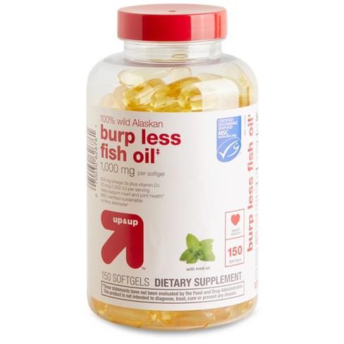 100% Wild Alaskan Burp Less Fish Oil Softgels - Up&Up™