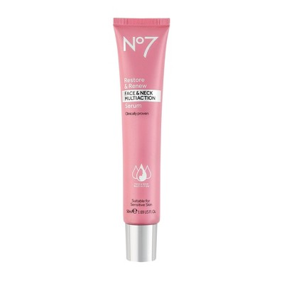 No7 Restore & Renew Face & Neck Multi Action Serum - 1.69 fl oz