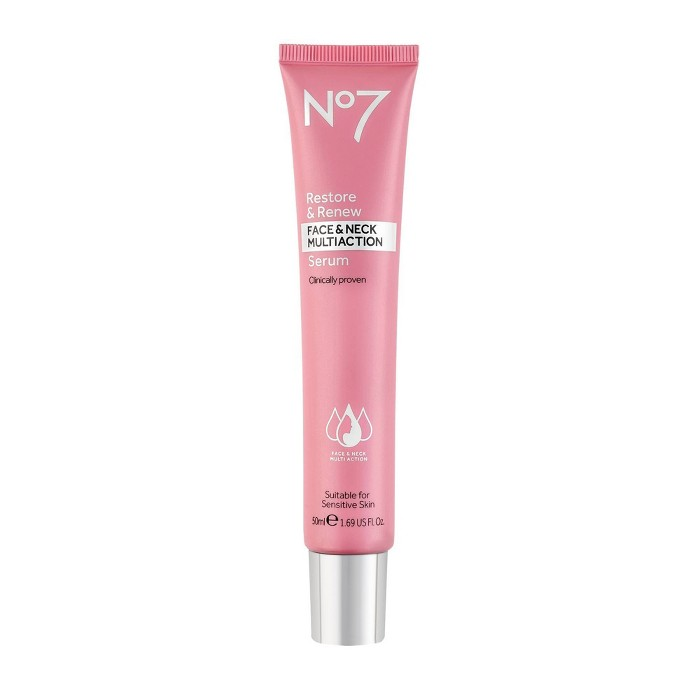No7 Restore & Renew Face & Neck Multi Action Serum - 1.69oz : Target