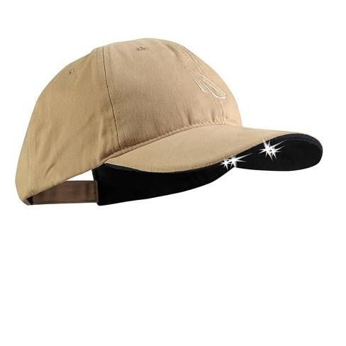 POWERCAP Adult 4 LED Unstructured Cotton Hat - Khaki - image 1 of 4