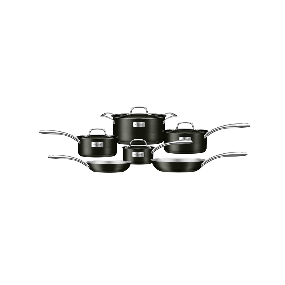 Image of Fleischer and Wolf London Series 10pc Set - Titanium Body with Stainless Steel Trim, Black