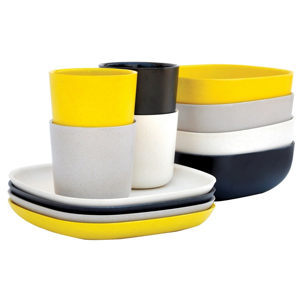 Image of Biobu by Ekobo Gusto 12pc Breakfast Set, Yellow