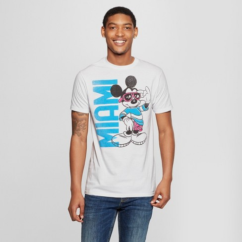 cb7c7133 Men's Mickey Mouse Miami Graphic Short Sleeve T-Shirt - White : Target