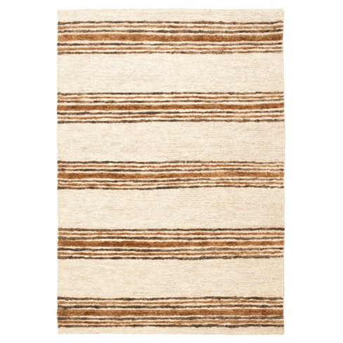 Natural Rust Stripe Knotted Area Rug 9 X12 Safavieh