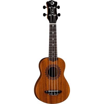 Luna Guitars Soprano Vintage Mahogany Ukulele Natural