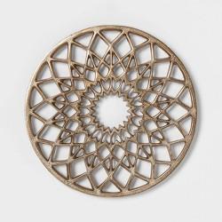 "Cravings by Chrissy Teigen 8.5"" Round Aluminum Trivet - Gold"