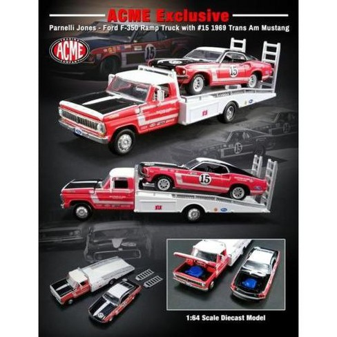 1968 Ford F 350 Ramp Truck 1969 Ford Mustang Boss 302 Trans Am  Cast Cars Acme Exclusive By Greenlight Target