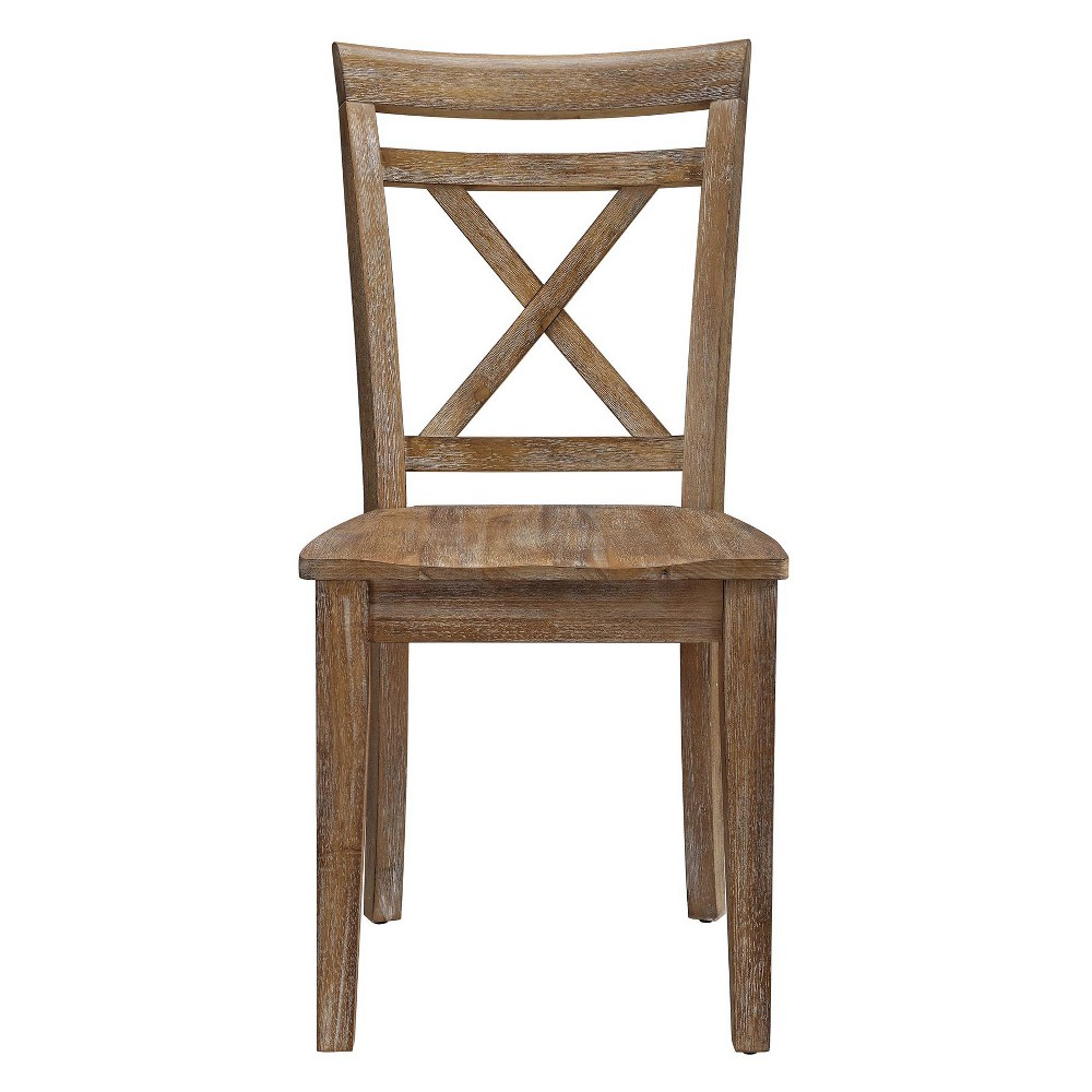 Lona Desk Chair Natural Rustic - Dorel Living