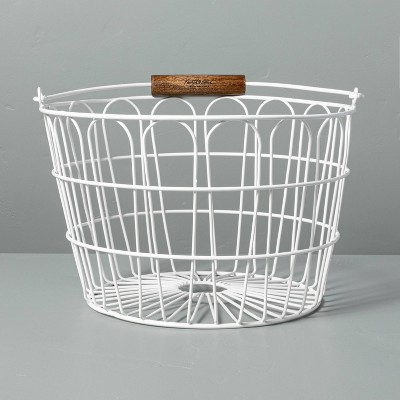 Large Wire Easter Basket with Handle White - Hearth & Hand™ with Magnolia