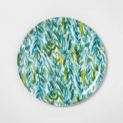14  Melamine Watercolor Leaves Serving Tray Green - Opalhouse™
