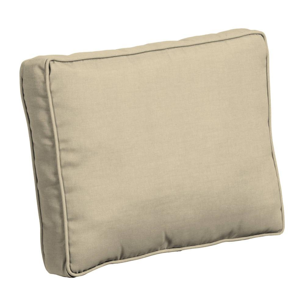 Leala Plush Blowfill Deep Seat Patio Chair Cushion Tan Arden Selections
