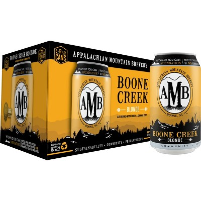Appalachian Mountain Boone Creek Blonde Ale Beer - 6pk/12 fl oz Cans