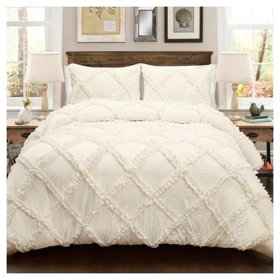 Ruffle Diamond Comforter Set - Lush Décor