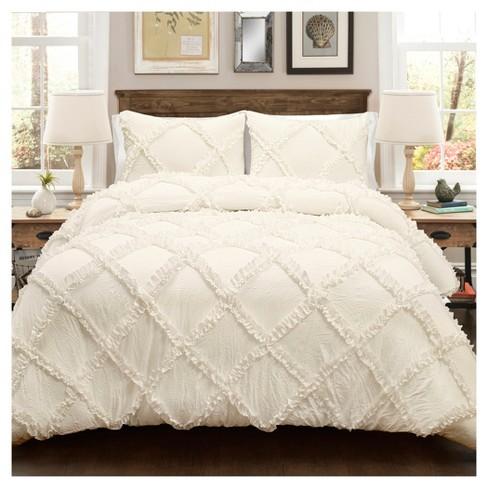 Ruffle Diamond Comforter Set - Lush Decor - image 1 of 2