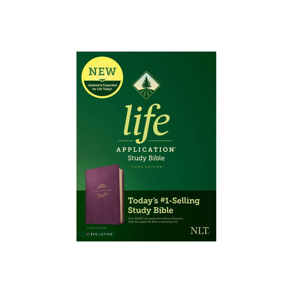 Nlt Life Application Study Bible Third Edition Red Letter Leatherlike Purple Leather Bound