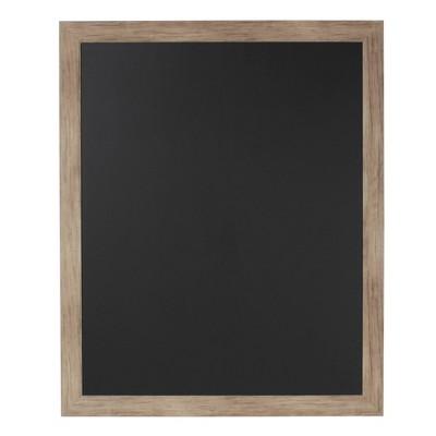 "33"" x 27"" Beatrice Framed Magnetic Chalkboard Rustic Brown - DesignOvation"