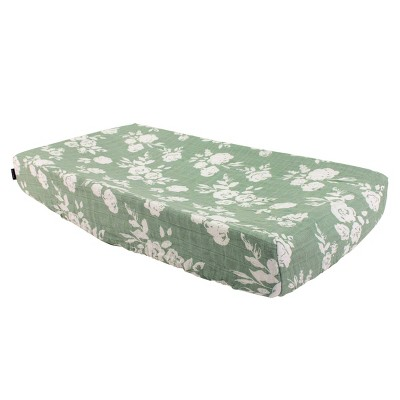Bebe au Lait Muslin Changing Pad Cover Vintage Floral