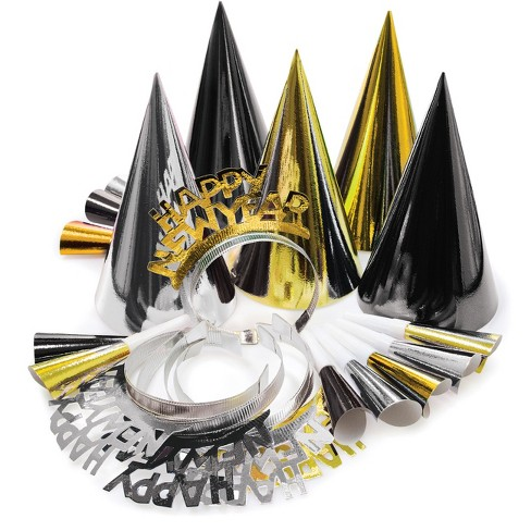 Gold and Silver New Year's Eve Party Kit Black - image 1 of 2