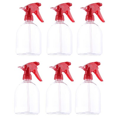Juvale 6 Pack Red Plastic Spray Bottles, Spray Trigger, Cleaning Supplies, 500mL