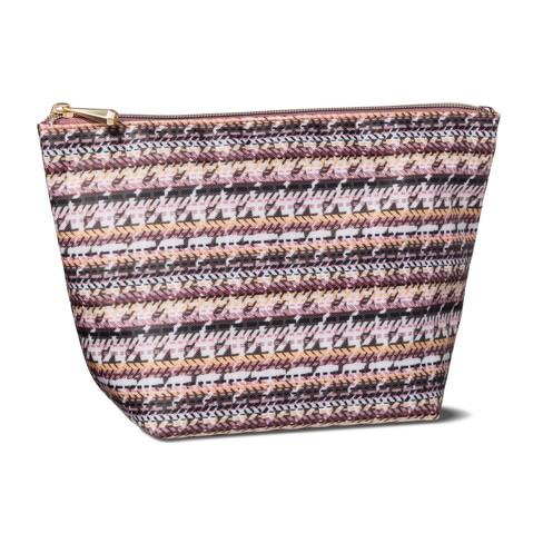 4d2ef8b00e60 Sonia Kashuk™ Cosmetic Bag Boat Clutch Broken Houndstooth   Target
