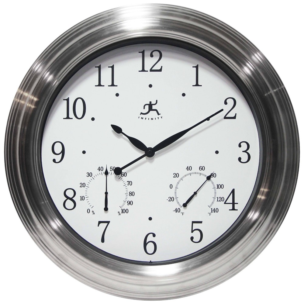 Image of Churchill Indoor Wall Clock Silver - Infinity Instruments