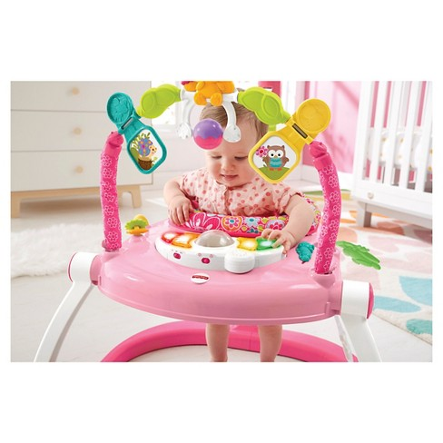 d5f784f34 Fisher-Price Floral Confetti SpaceSaver Jumper -Pink White   Target