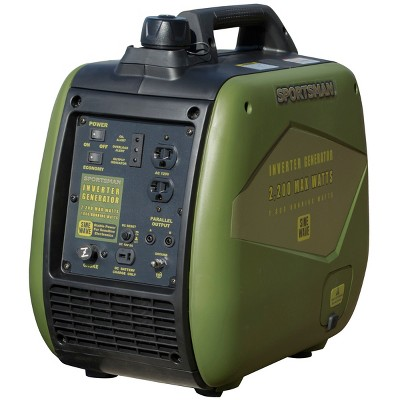 2200 Watt Inverter Gasoline Generator with Parallel Capability - CARB Approved - Green - Sportsman