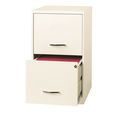 "18"" Deep 2 Drawer File Cabinet in Pearl White-Hirsh Industries"