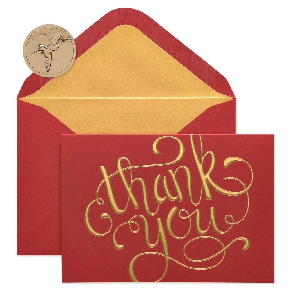Image of 12ct Papyrus Thank You Boxed Holiday Greeting Cards, White