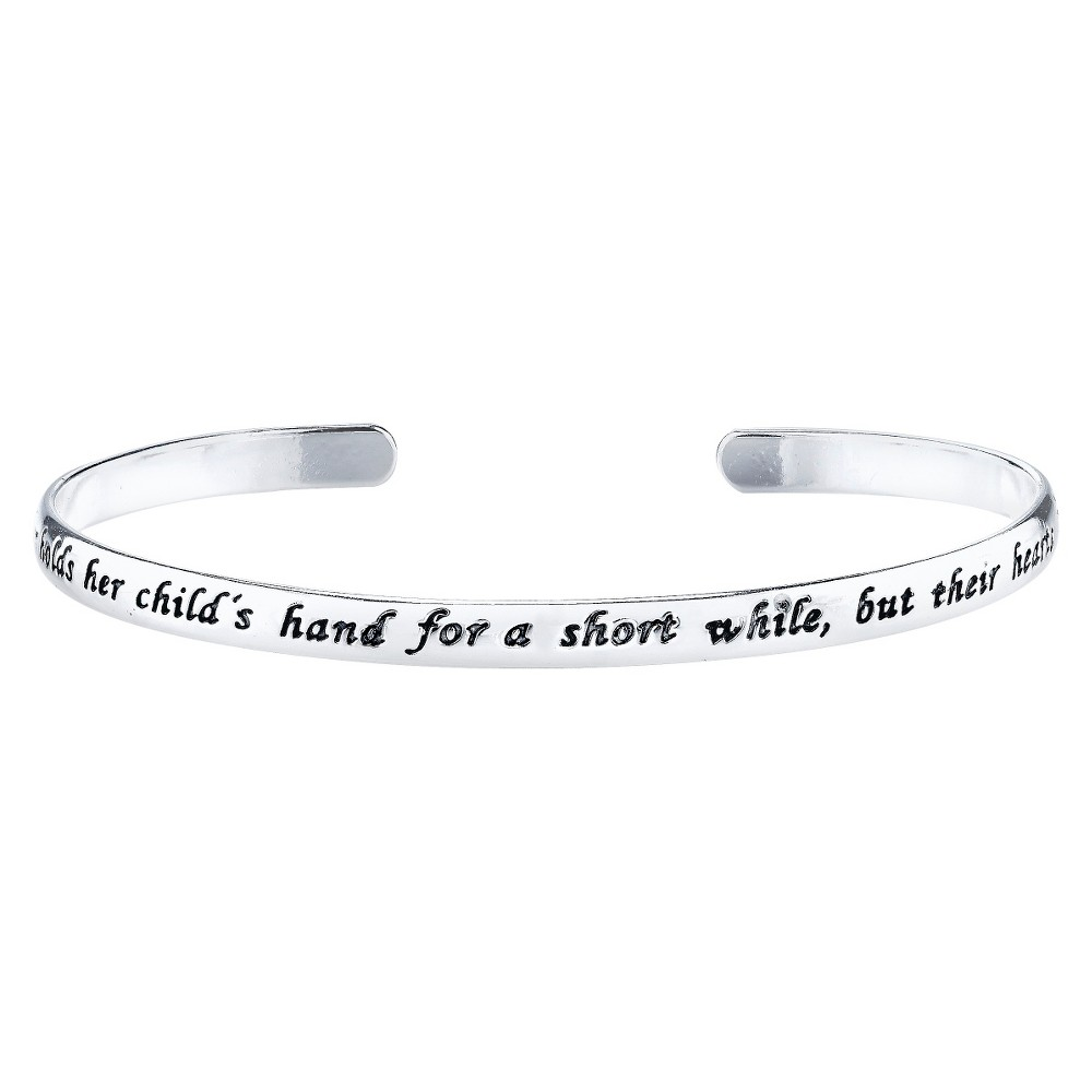 "Target Silver Plated ""A Mother Holds Her Child's Hand"" Bracelet, Girl's"