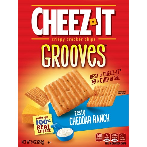Cheez-It Zesty Cheddar Ranch Grooves Crispy Cracker Chips - 9oz - image 1 of 7