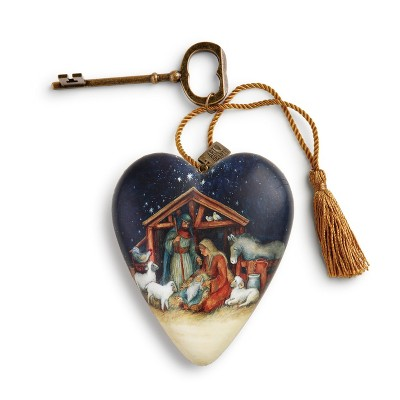 DEMDACO O Holy Night Nativity Art Heart Blue