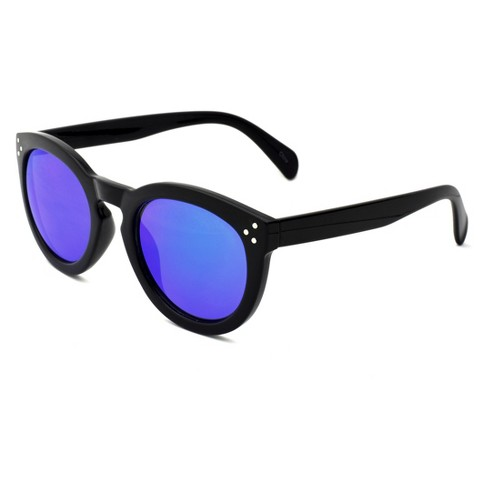 Women's Round Sunglasses with Indigo Mirror Lens - Wild Fable™ Black - image 1 of 2