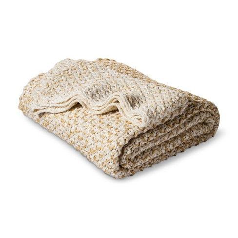 Ombre Knit Throw Blanket Cream - Threshold™ - image 1 of 2