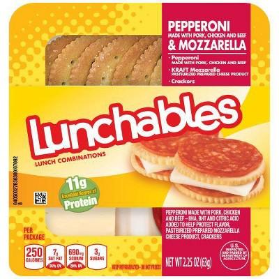 Oscar Mayer Lunchables Lunch Combinations Pepperoni & Mozzarella - 2.25oz