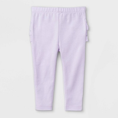 Baby Girls' Ruffle Leggings - Cat & Jack™ Light Purple 0-3M