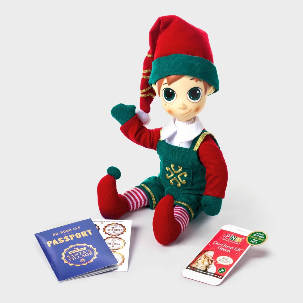 Image of Do Good Elf Decorative Figurine Green - Portable North Pole